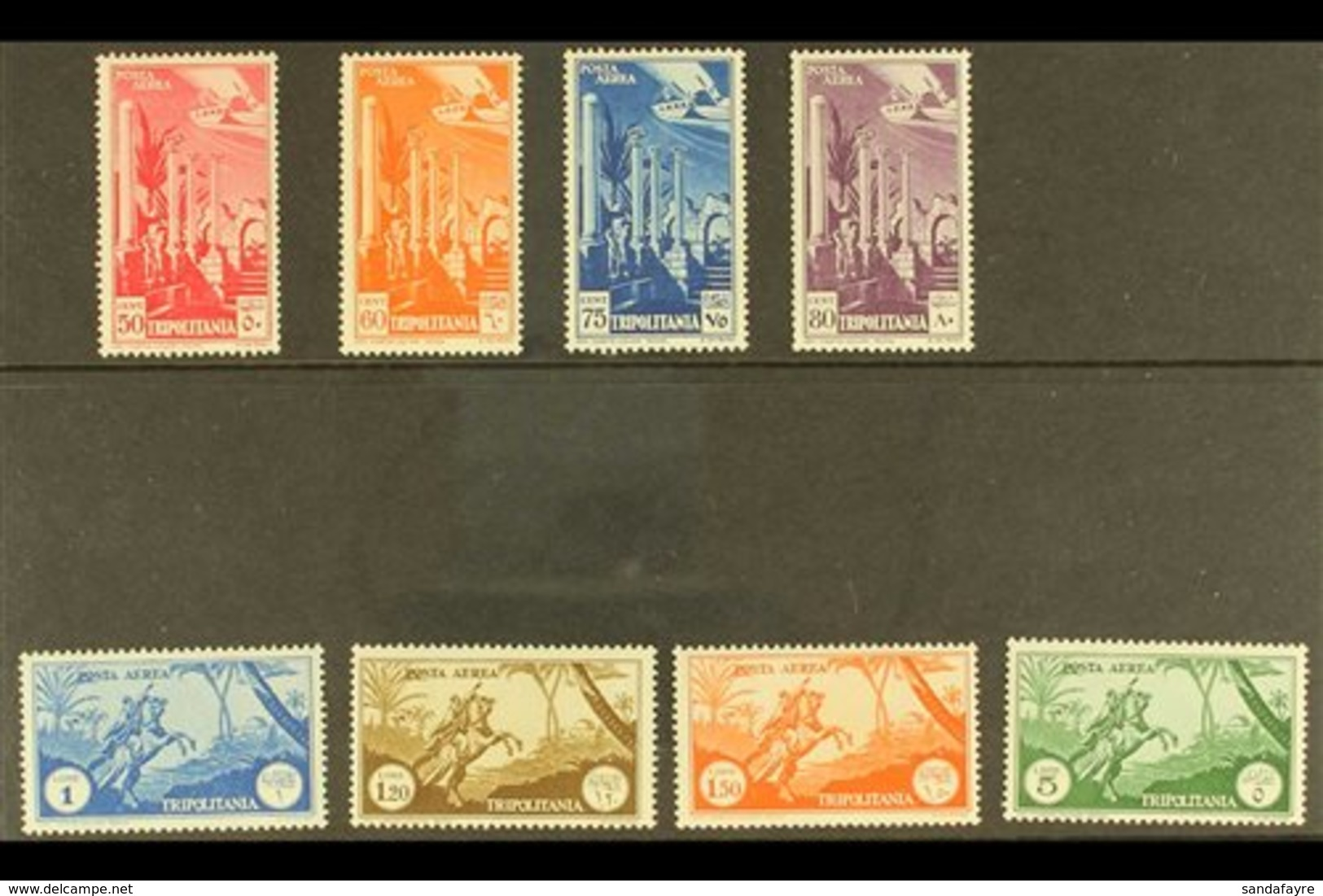 TRIPOLITANIA 1931-32 Air Complete Set (Sassone 9/16, SG 116/22), Never Hinged Mint, Very Fresh. (8 Stamps) For More Imag - Italy