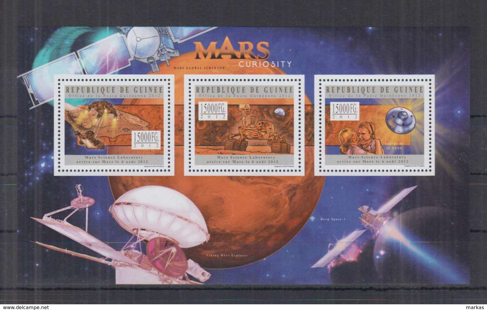 V274. Guinee - MNH - 2012 - Space - Spaceships - Mars - Space