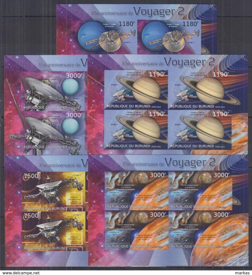 W278. Burundi - MNH - Space - Voyager 2 - Imperf - Space