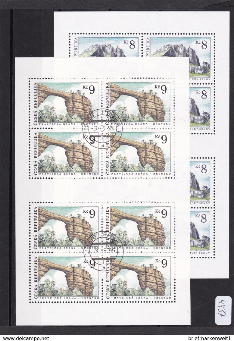 (K 4437a) Tschechische Republik, KB 78/79, Gest. - Blocks & Kleinbögen