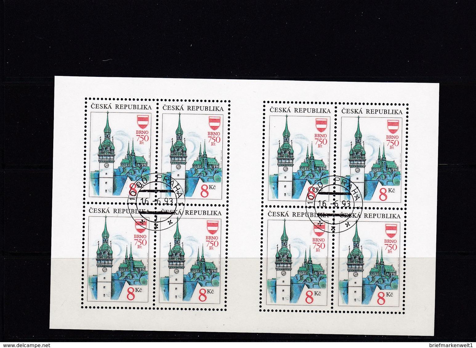 (K 4437g) Tschechische Republik, KB 9, Gest. - Blocks & Kleinbögen