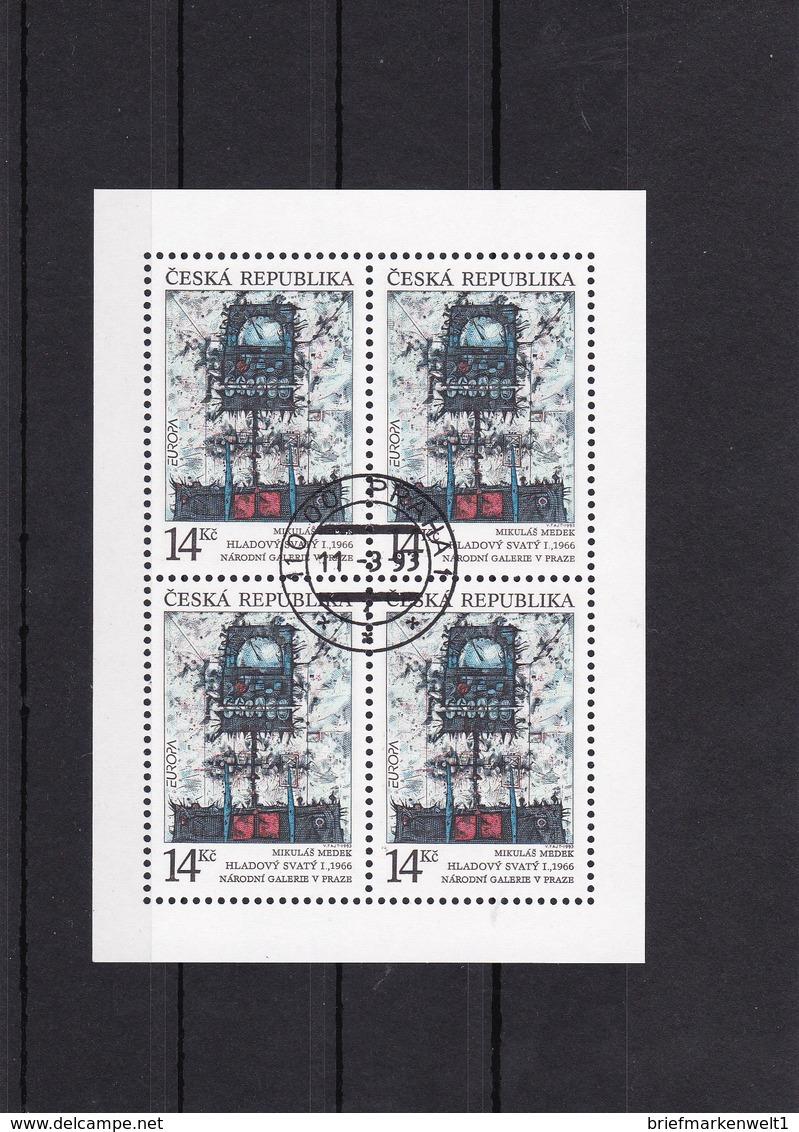 (K 4437g) Tschechische Republik, KB 5, Gest. - Blocks & Kleinbögen
