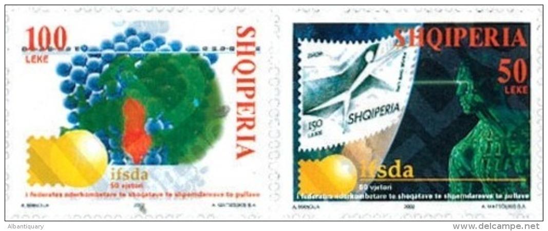 Albania Stamps 2002. 50th ANNIVERSARY OF IFSDA. Set MNH. - Albania