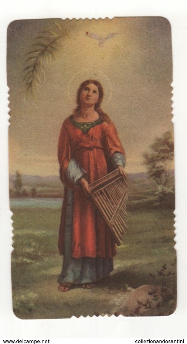 Santino Antico Fustellato Santa Cecilia Ar 2220 - Religion & Esotericism