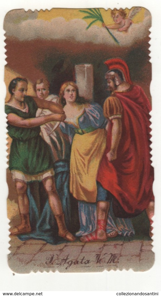 Santino Antico Fustellato Santa Agata V. M. - Religion & Esotericism