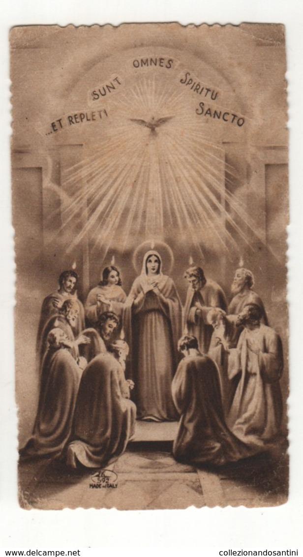 Santino Antico Fustellato Seppia Spirito Santo EB ELE  592 - Religion & Esotericism