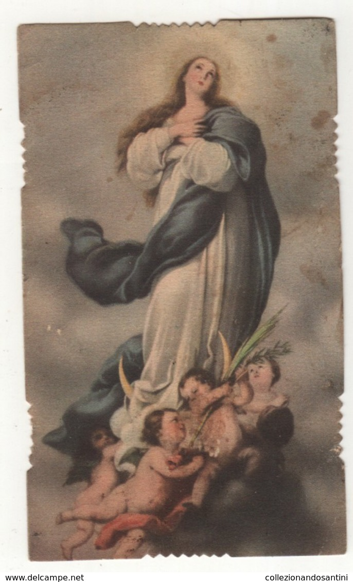 Santino Antico Fustellato Immacolata ESA 2075 - Religion & Esotericism