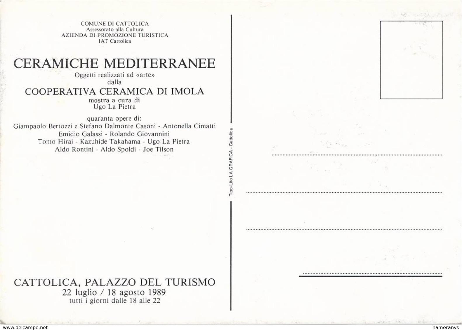 Cattolica - Palazzo Del Turismo - Ceramiche Mediterranee - Rimini - H5423 - Rimini