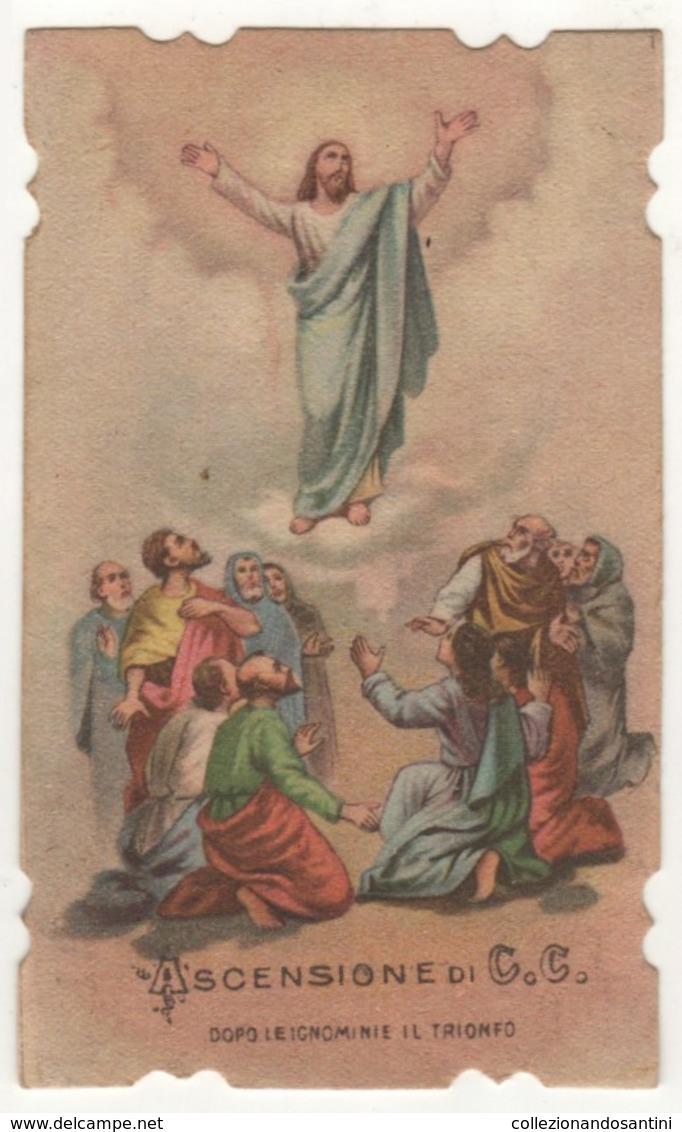 Santino Antico Fustellato Ascensione Di Gesù Cristo 353 - Religion & Esotericism