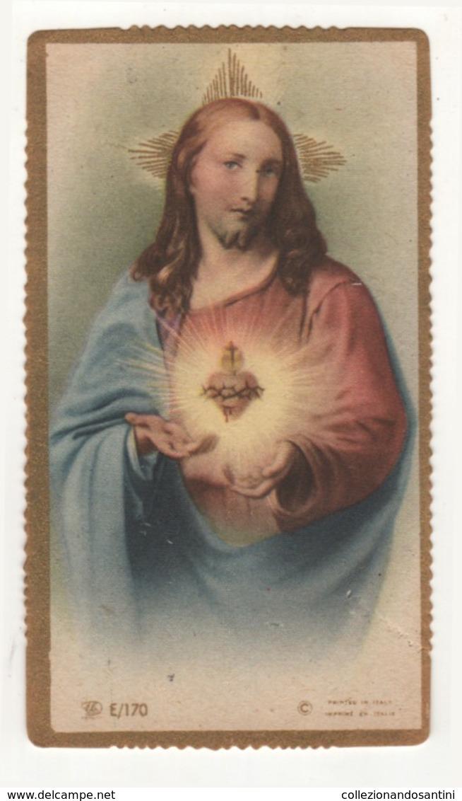 Santino Antico Fustellato Cuore Di Gesù Cristo EB ELE E/170 - Religion & Esotericism