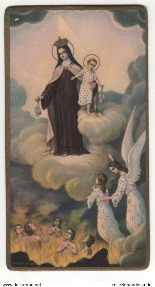 Santino Antico Fustellato Madonna Del Carmine NB T. 11092 - Religion & Esotericism