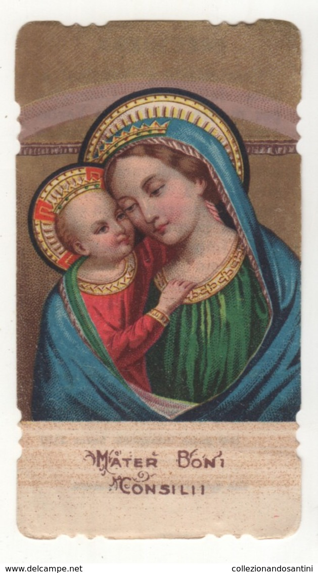 Santino Antico Fustellato Madonna Del Buon Consiglio Mater Boni Consilii - Religion & Esotericism
