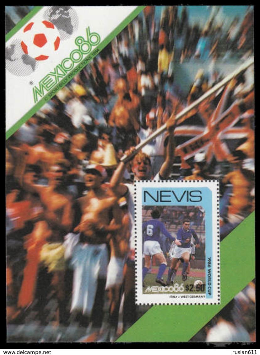 Soccer Football Nevis Bl 10d 1986 World Cup Mexico MNH ** - World Cup