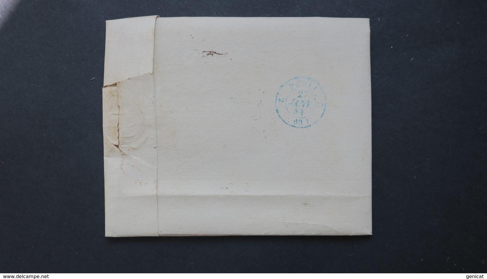 Belgique Lettre De Pecq 1844 Pour Paris Taxe 7 Voir Scans - 1830-1849 (Independent Belgium)