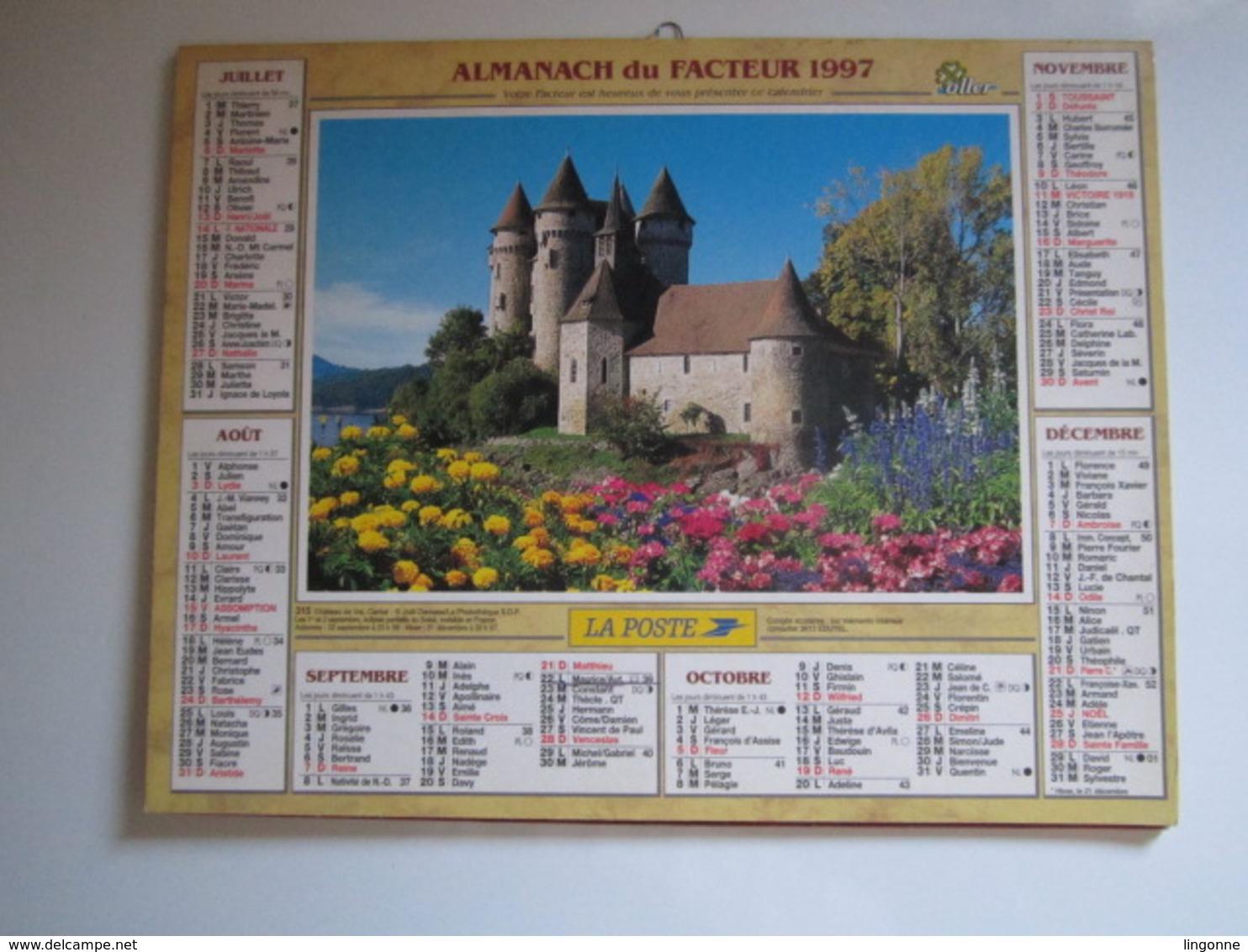 1997 ALMANACH DU FACTEUR Calendrier Des Postes HAUTE-MARNE 52 - Grand Format : 1991-00