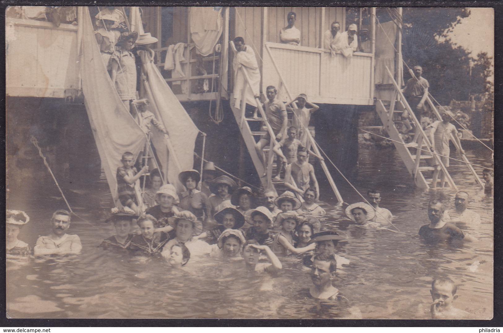 Bath, Sent From Opatija To Vukovar, 1905 - Croazia