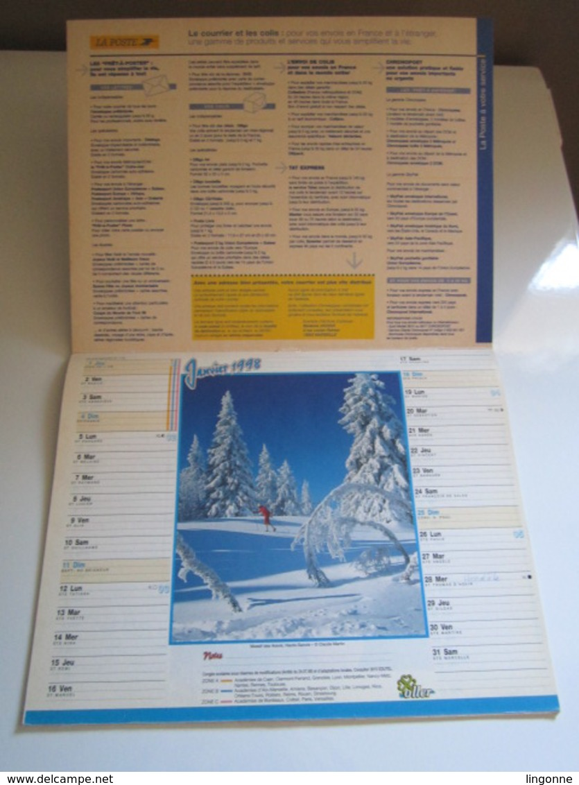 1998 ALMANACH DU FACTEUR Calendrier Des Postes HAUTE-MARNE 52 - Calendriers