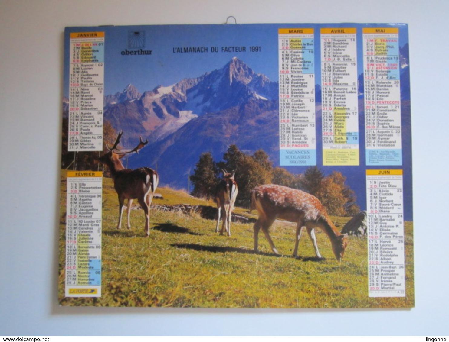 1991 ALMANACH DU FACTEUR Calendrier Des Postes HAUTE-MARNE 52 - Grand Format : 1991-00