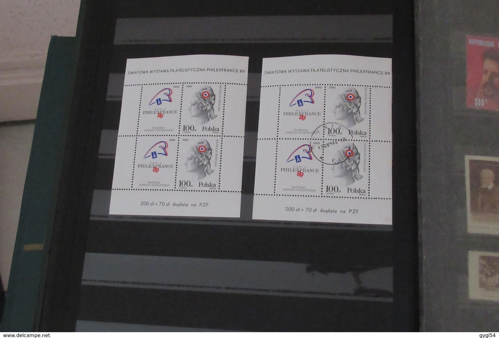 4 Classeurs à Bandes France Oblitérés , N*   MLH , Etats - Unis   , Divers  67  Scans - Timbres