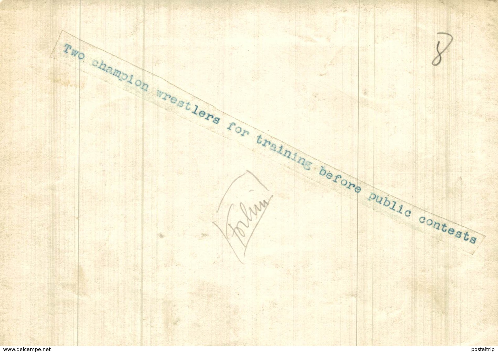 SUMO WRESTLING 2 CHAMPION WRESTLERS TRAINING JAPAN JAPÓN  16,5*12CM Fonds Victor FORBIN 1864-1947 - Deportes