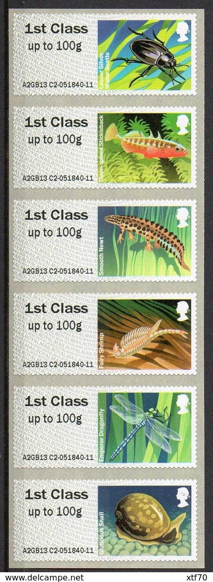 GREAT BRITAIN 2013 Post & Go: Freshwater Life I. Ponds - Post & Go Stamps