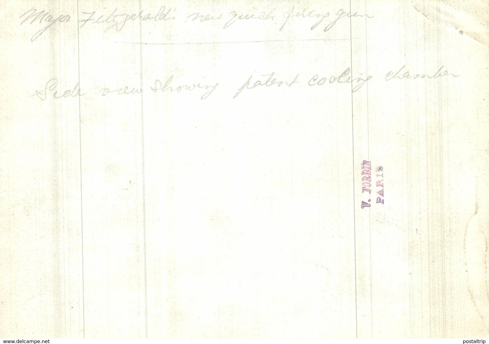 MAJOR FITZGERALD QUICK FIRING GUN PATENT COOLING INVENCIÓN NOUVELLE INVENTION    16*12CM Fonds Victor FORBIN 1864-1947 - War, Military