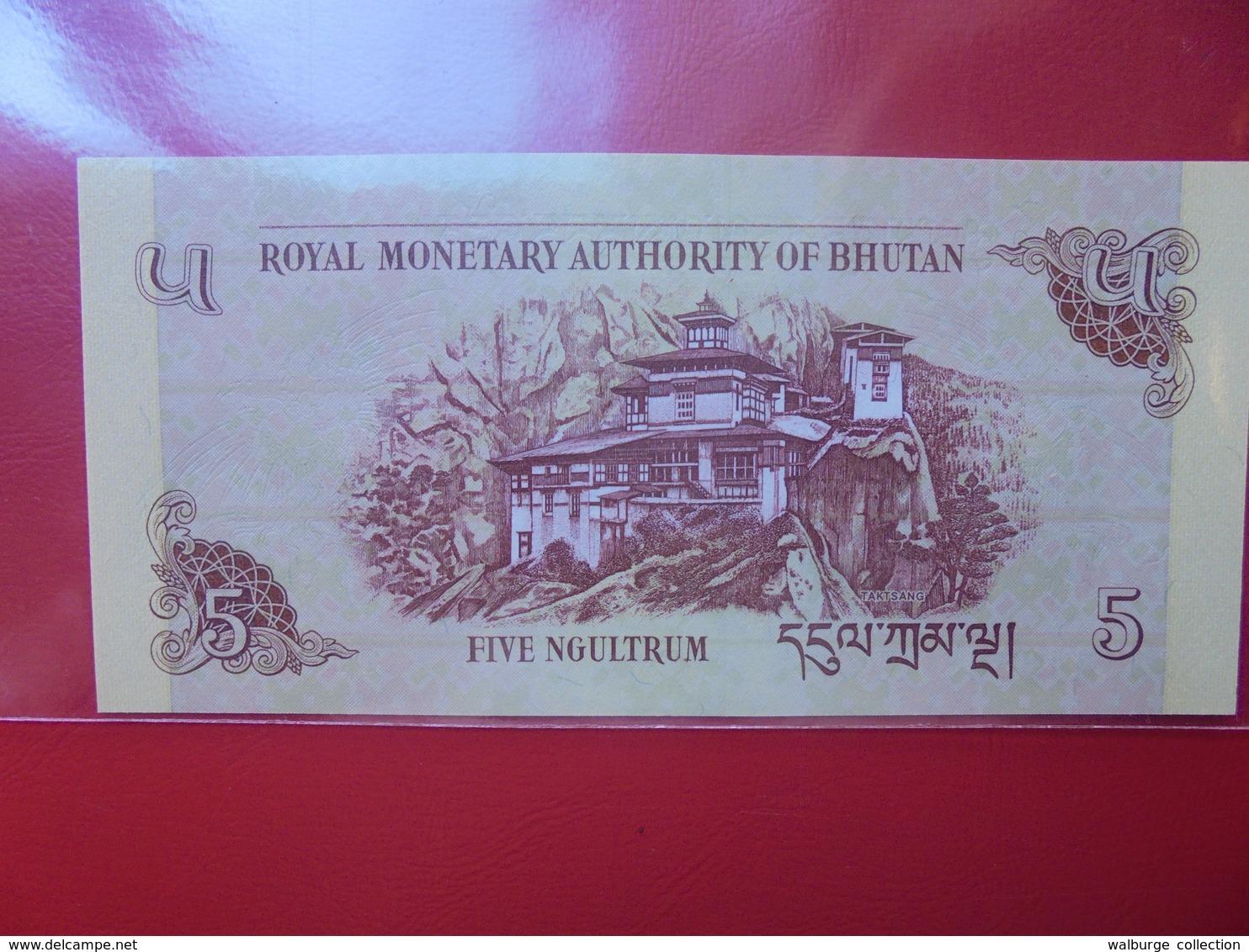 BHUTAN 5 NGULTRUM 2015 PEU CIRCULER/NEUF - Bhoutan