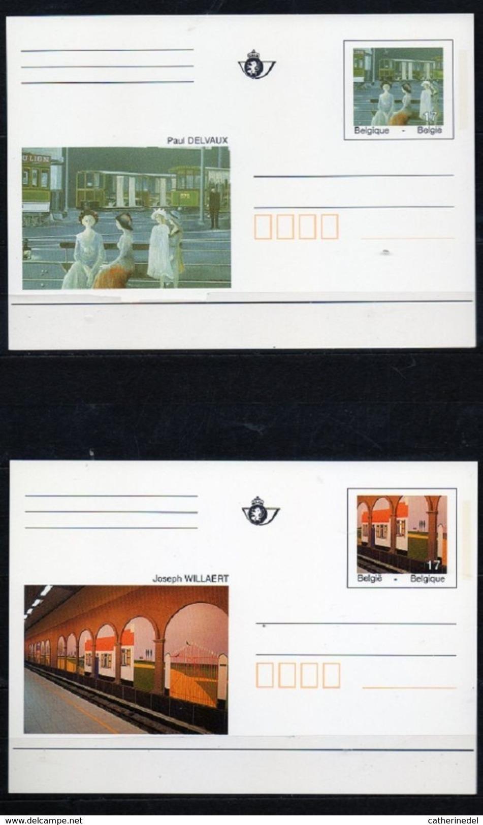 Année 1997 : CA52-CA53/BK52-BK53 - Métro Bruxellois - Entiers Postaux