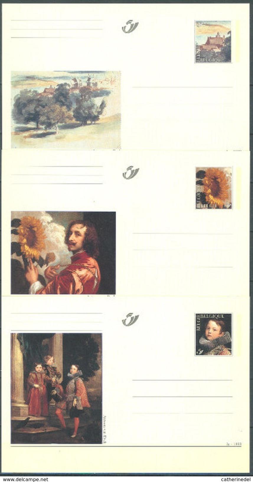 Année 1999 : CA71-CA73/BK71-BK73 - Antoon Van Dyck - Cartes Postales [1951-..]