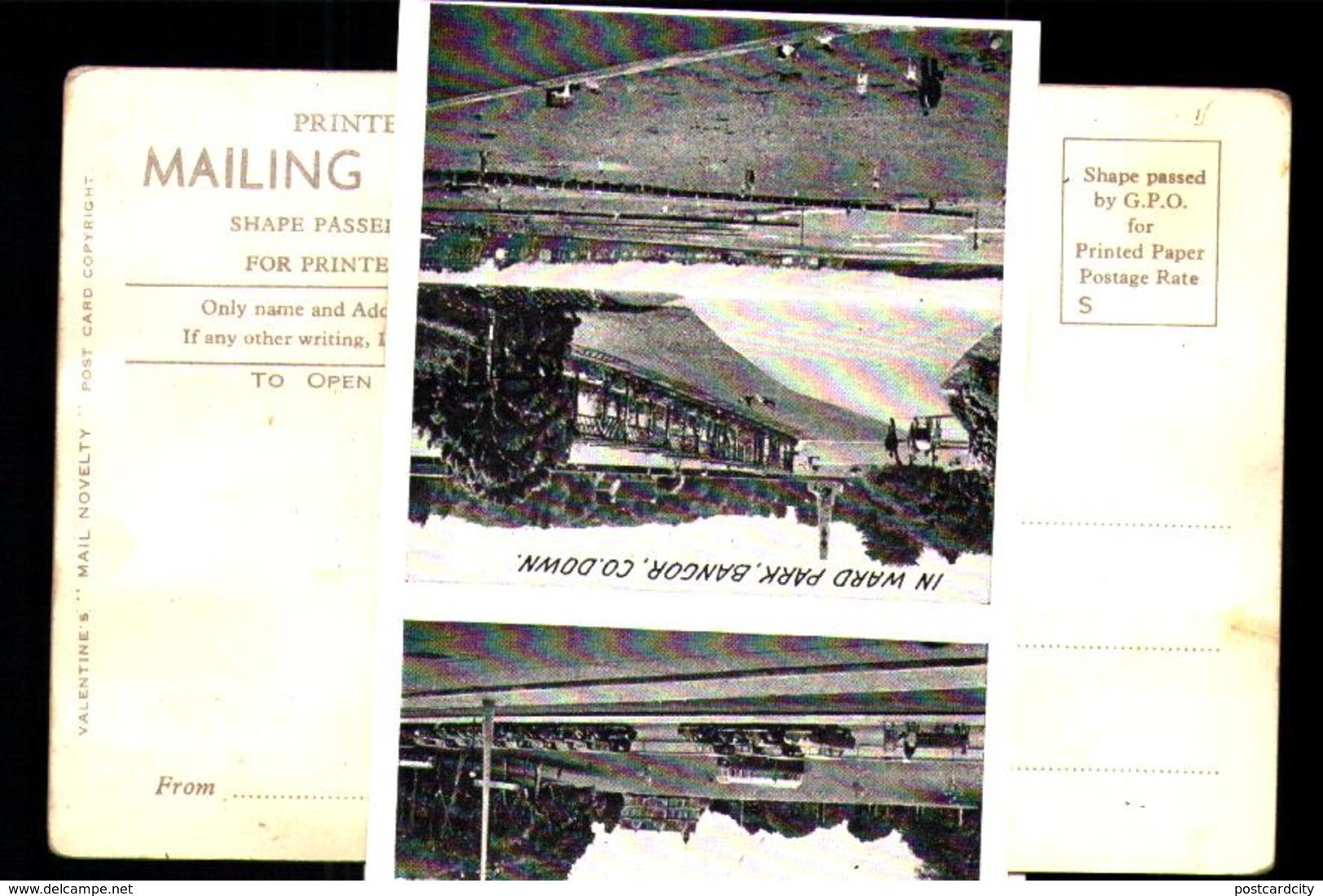 Bangor Gnomes Playing Poker/cards Novelty Slip-out Postcard-iRISH THEME - Autres
