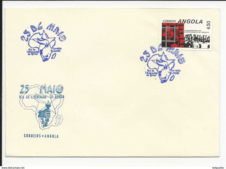 Cover Angola 25 Maio Dia Da Libertação De África Luanda 1983 - Angola