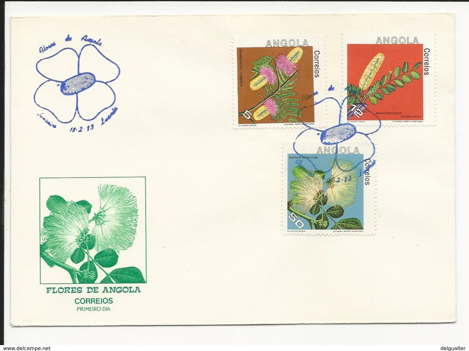 Cover FDC Angola Flores De Angola Luanda 1983 - Angola
