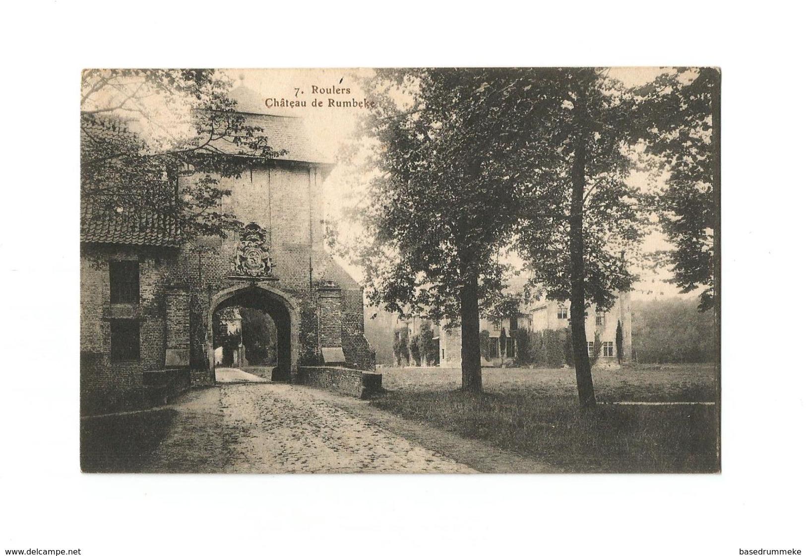 Roulers   Château De Rumbeke (1915). - Roeselare