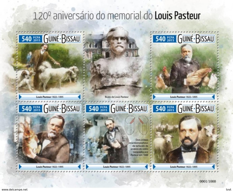 Guinea-Bissau, 2015. [gb15608] Louis Pasteur (s\s+block) - Louis Pasteur