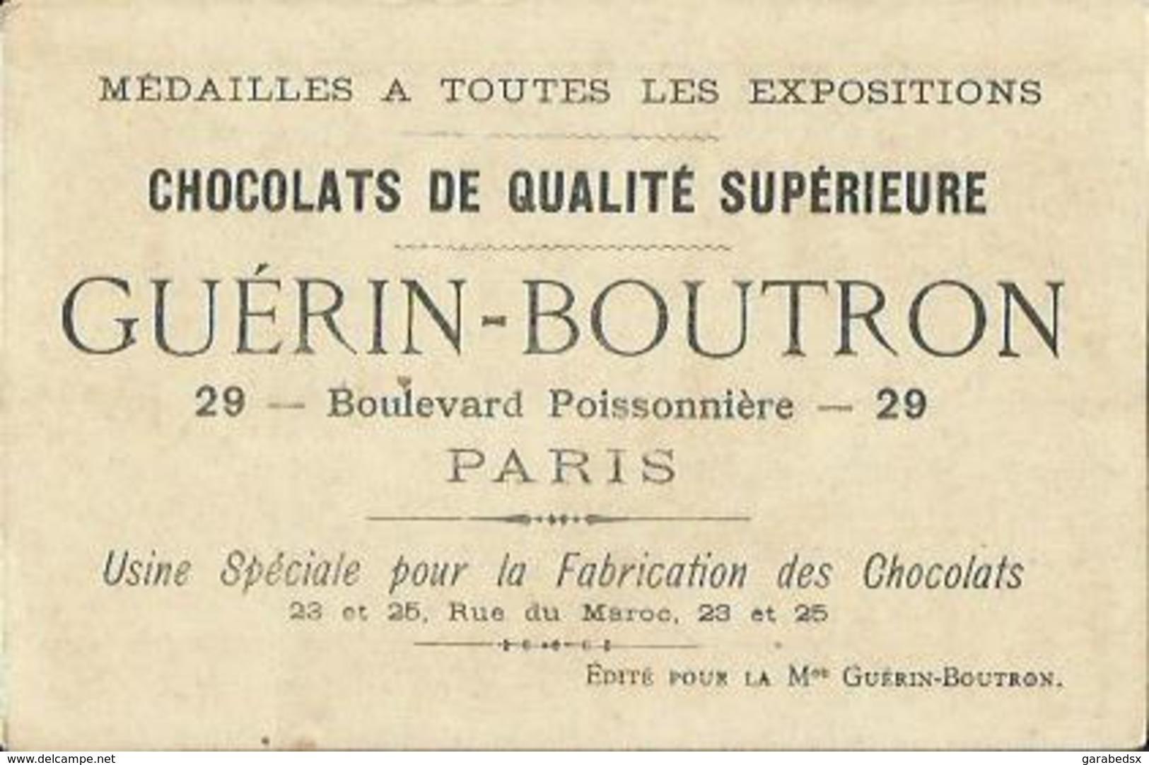Chromo CHOCOLAT GUERIN-BOUTRON - LES SOLDATS. - Guérin-Boutron