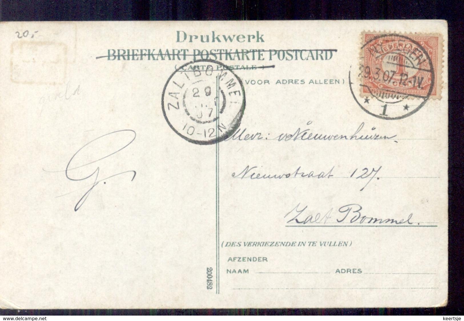 Nymegen - Langebalk - Zaltbommel Grootrond - 1907 - Nijmegen