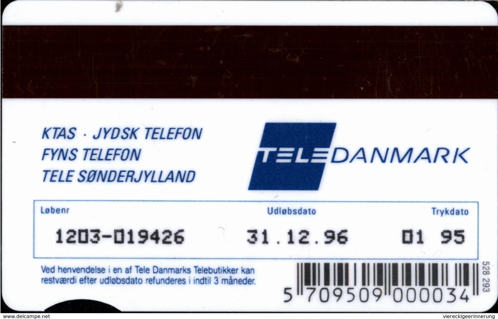 ! 100 Kr Telefonkarte, Telekort, Phonecard, 1995 Dänemark, Danmark, Denmark, Hai - Dinamarca