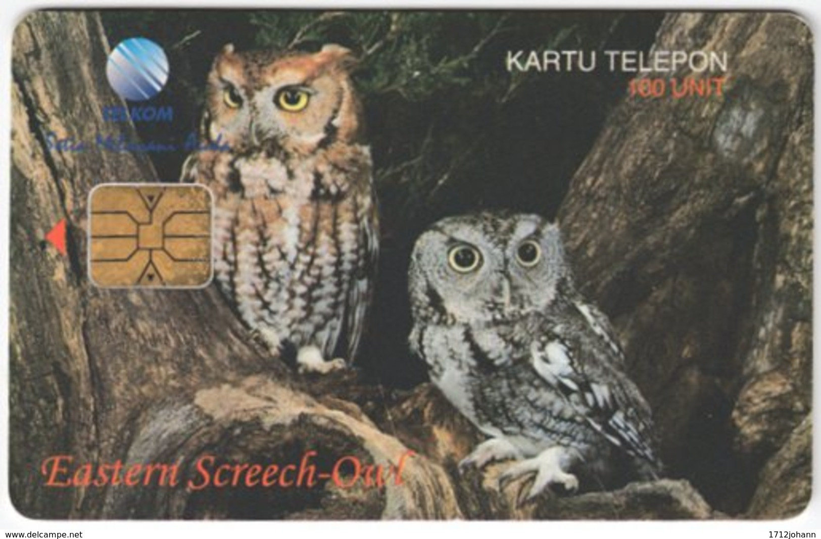 INDONESIA A-299 Chip Telekom - Animal, Bird, Owl - Used - Indonesien