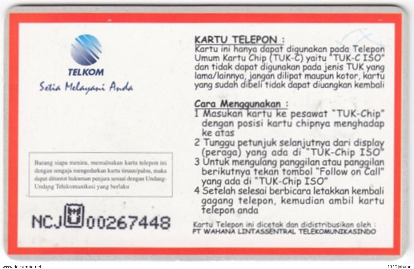 INDONESIA A-303 Chip Telekom - Animal, Pika - Used - Indonesien