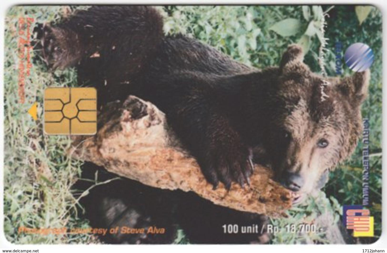INDONESIA A-309 Chip Telekom - Animal, Bear - Used - Indonesien