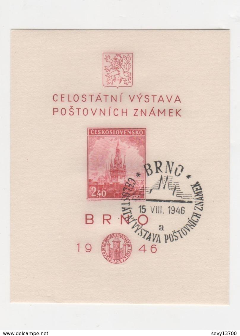 Celostatni Vystava Postovnich Znamek BRNO 1946 - Tchécoslovaquie