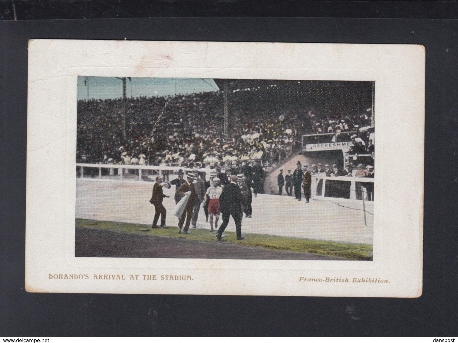 UK Exhibition PPC Dorando's Arrival At The Stadium - Olympic Games