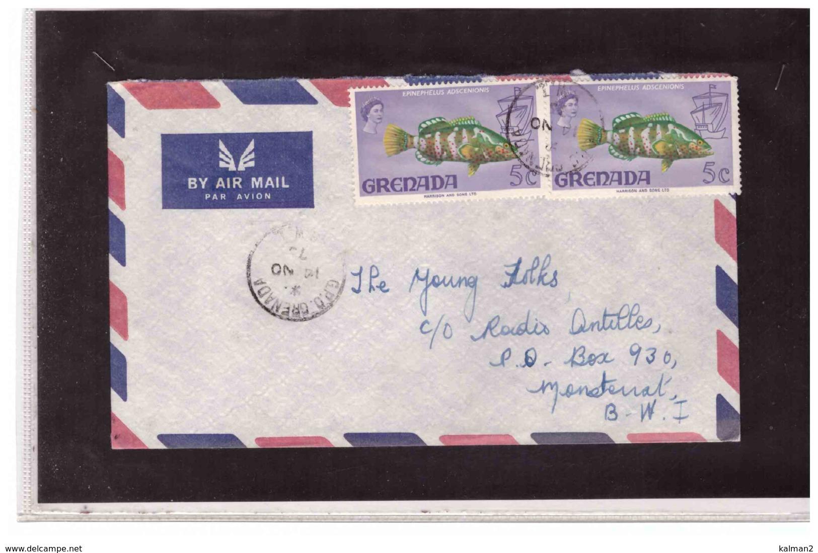 TEM10232   -   GRENADA   -  AIR  MAIL COVER TO  MONTSERRAT - Grenada (1974-...)
