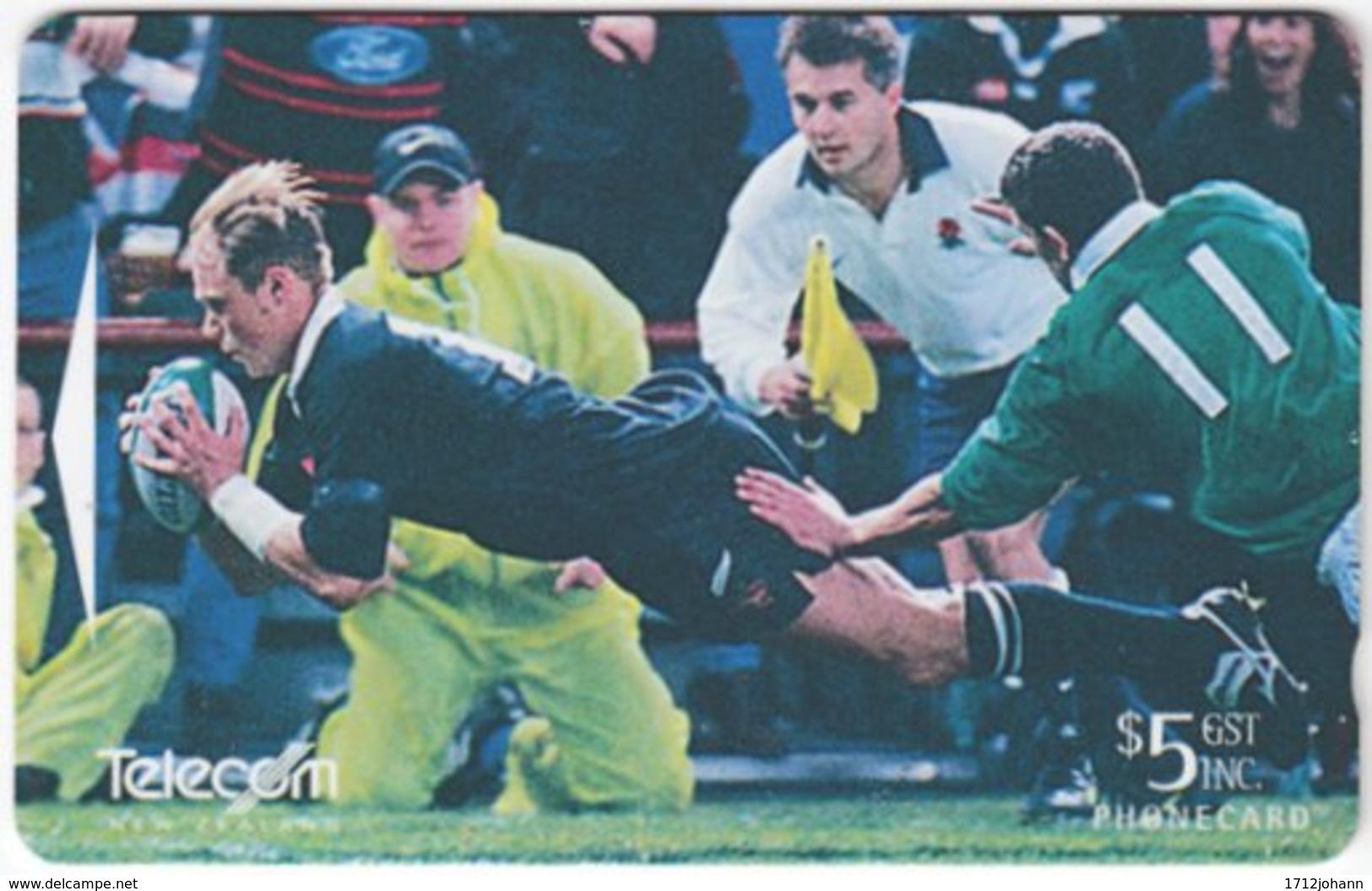 NEW ZEALAND A-765 Magnetic Telecom - Sport, Rugby - ADCB - Used - Nuova Zelanda
