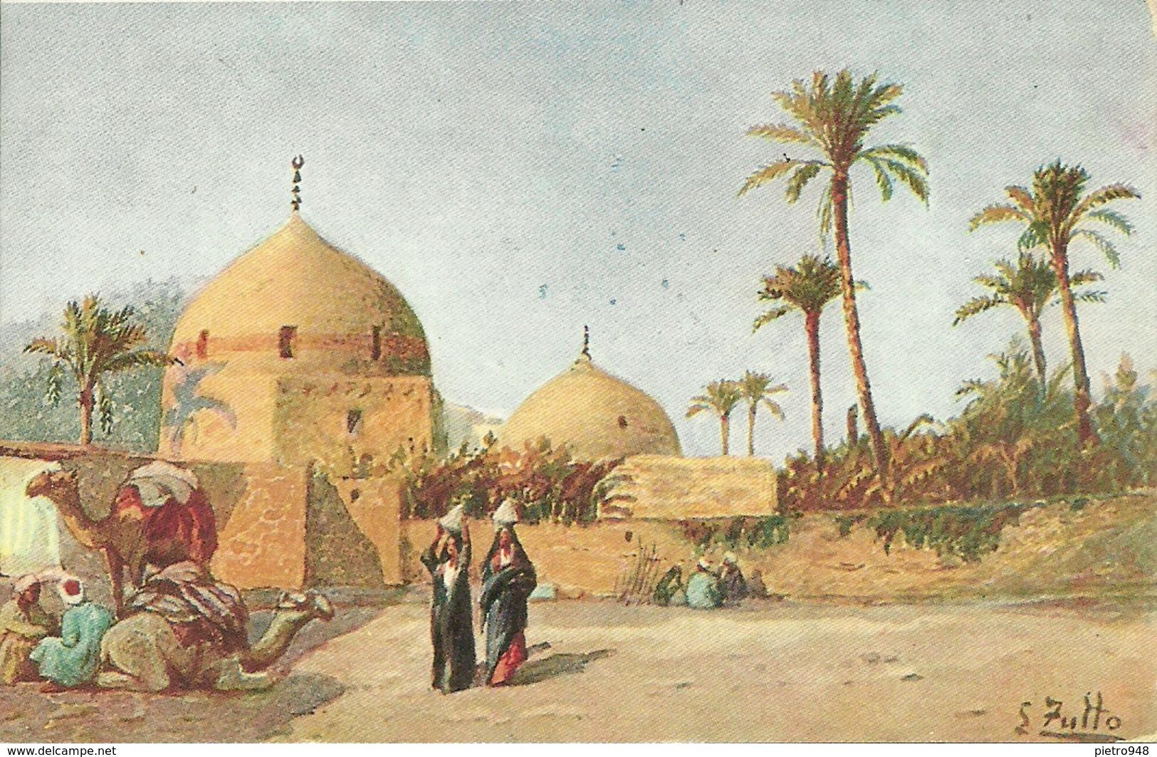 Africa, Paesaggio Africano, Riproduzione D08, Reproduction, Illustrazione, S. Zullo Illustratore - Cartoline