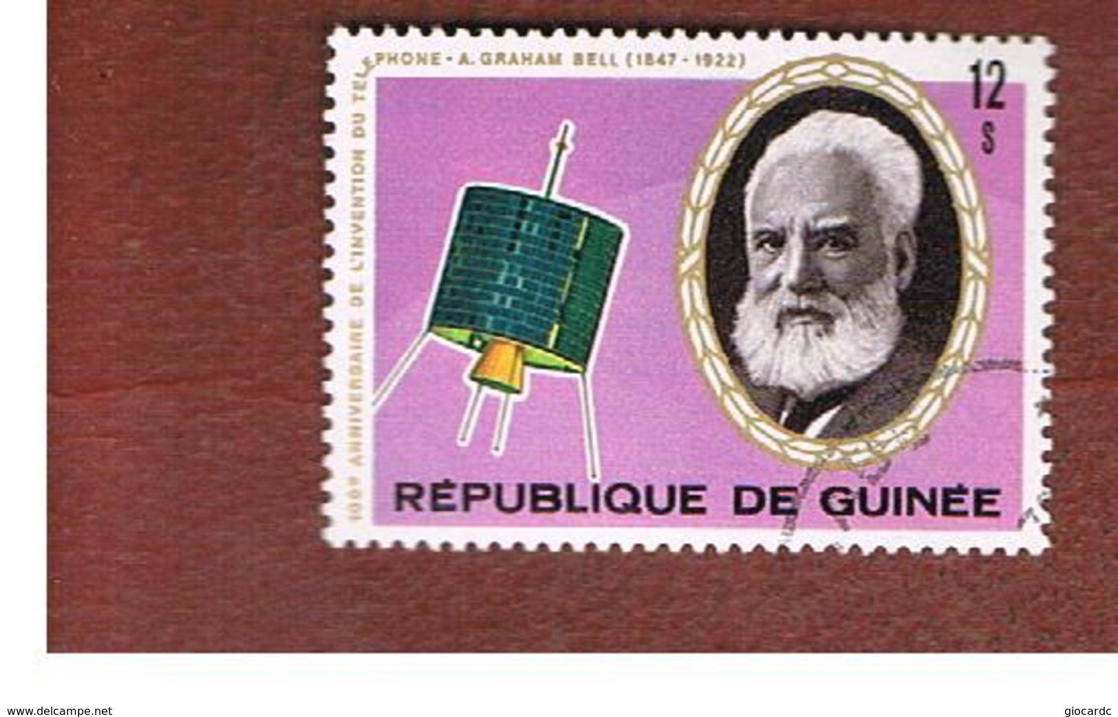 GUINEA -  SG 909   -  1976  TELEPHONE CENTENARY: SATELLITE SYNCOM  - USED ° - Guinea (1958-...)