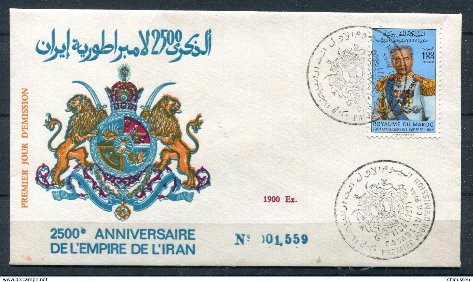 Maroc 1er Jour Shah D' Iran - Morocco (1956-...)