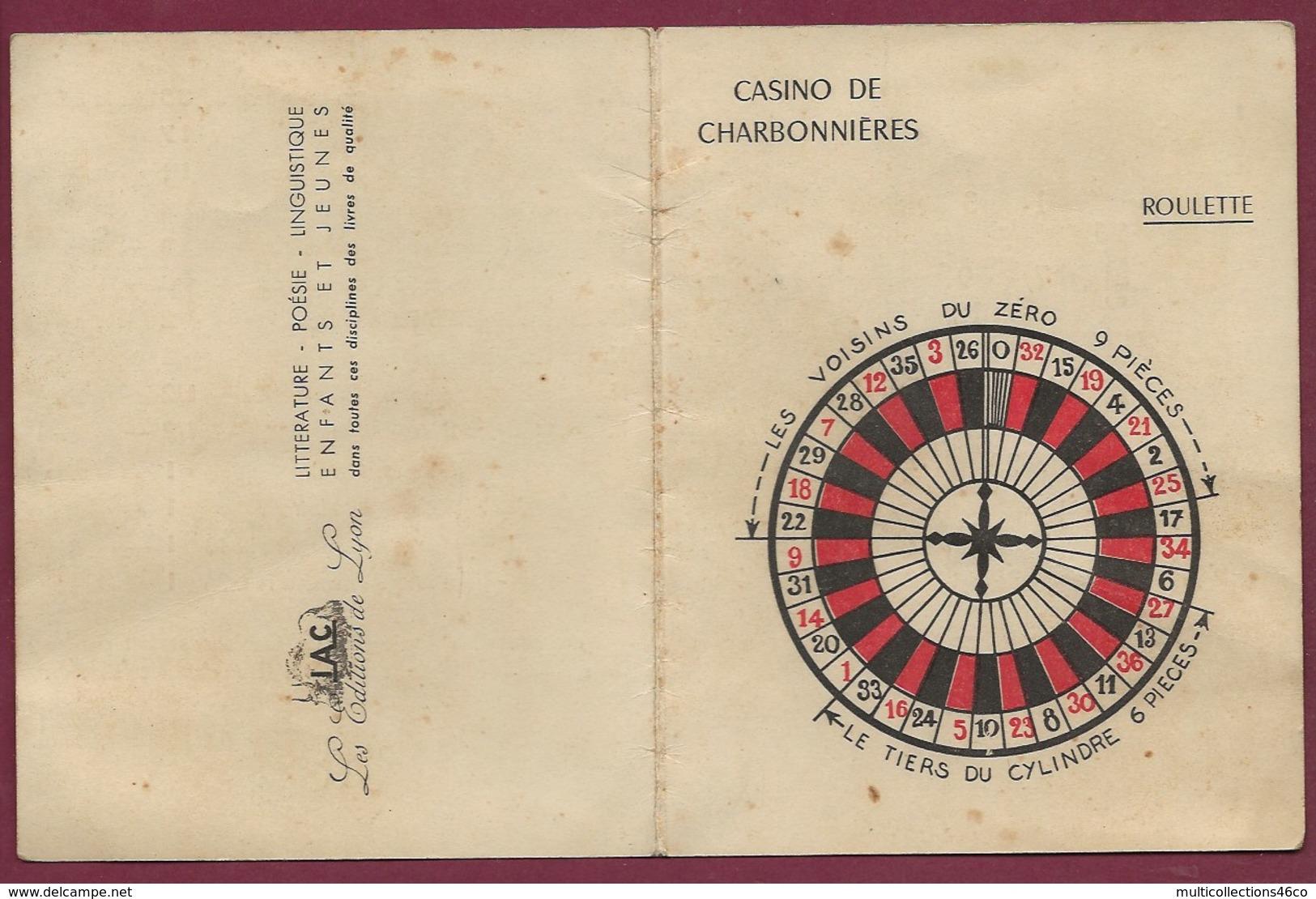 130819A - 69 CHARBONNIERES LES BAINS Carte Double CASINO ROULETTE - Jeu  IAS éditions De Lyon - Charbonniere Les Bains