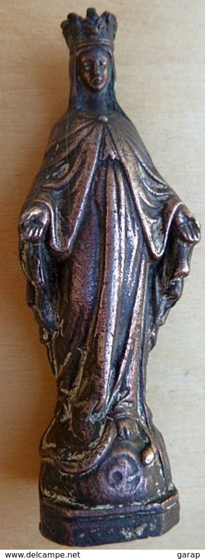 Mada-262 Statuette De La Vierge En Bronze R - Religion & Esotericism