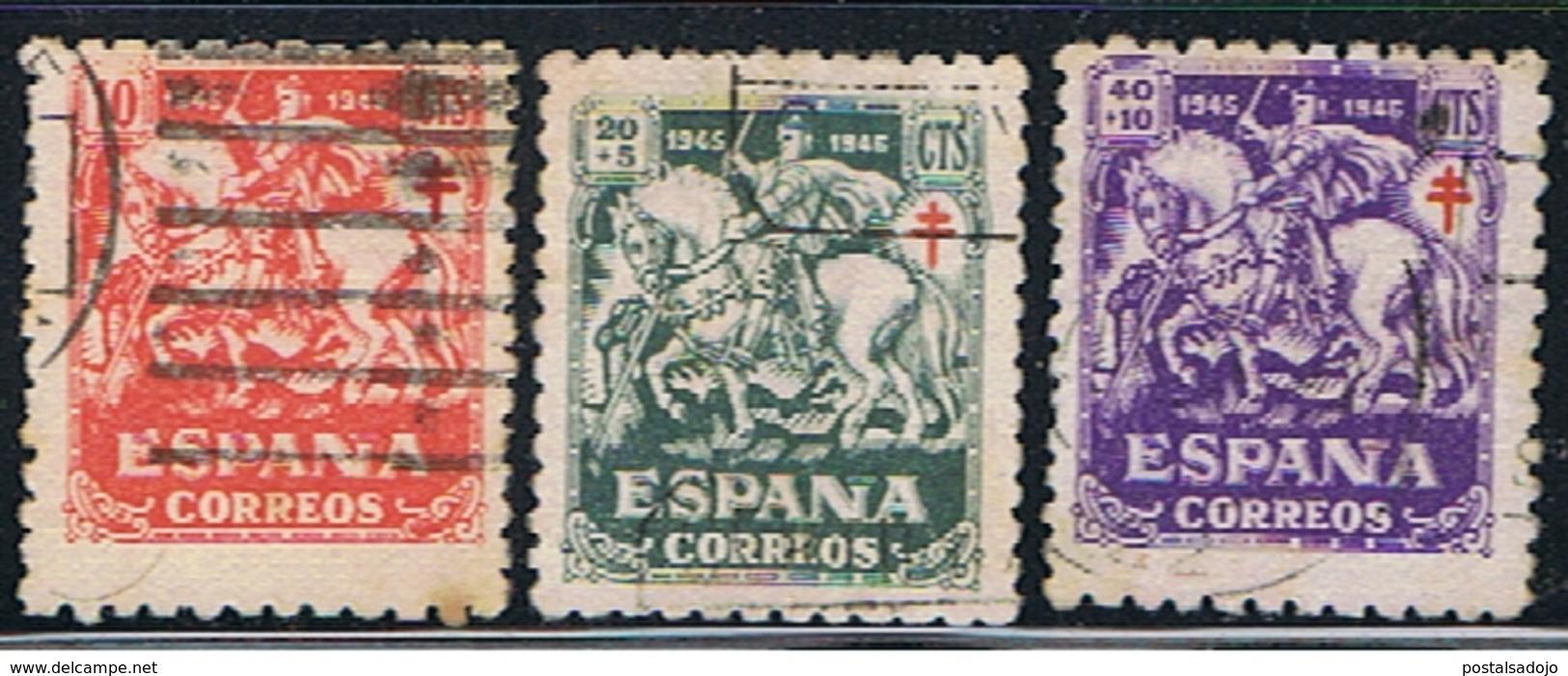 (E 897) ESPAÑA  // YVERT 744, 745, 746 // EDIFIL 993, 994, 995 // 1945 - 1931-Aujourd'hui: II. République - ....Juan Carlos I